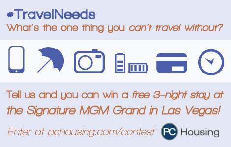 #TravelNeeds PC Housing Travel Contest