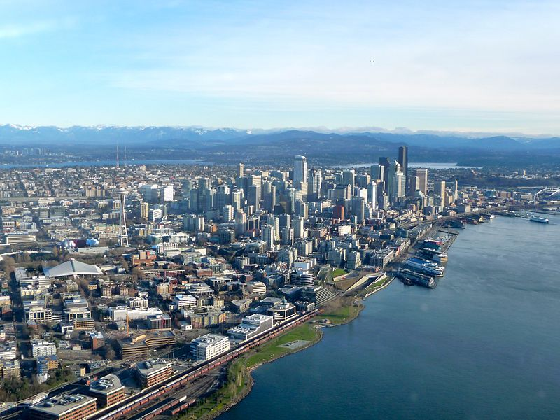 Downtown Seattle and Elliott Bay