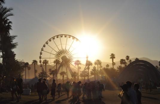 coachella sun and ferris wheel