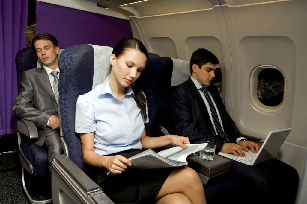 people on airline flight